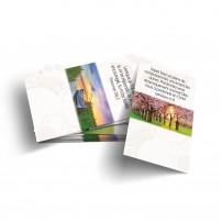 Lot 100 Mini-cartes VB : Dieu est mon guide
