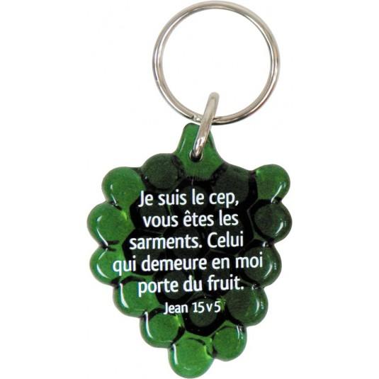 Porte-clés grappe de raisin vert