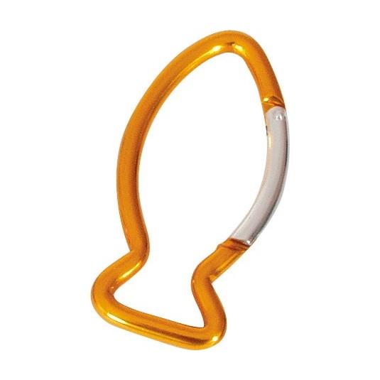 Porte-clés mousqueton poisson orange