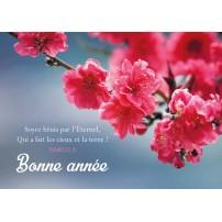 CARTE FA : Branche de fleurs roses (BA)