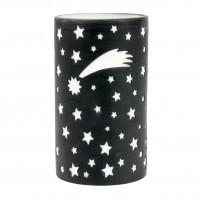 Bougeoir lanterne ciel étoilé noire en porcelaine