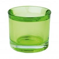 Bougeoir transparent vert