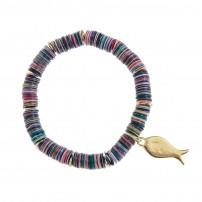 Bracelet élastique avec pendentif poissons