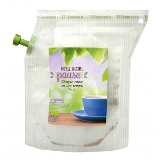 Sachet de préparation thé aux fleurs et fruits