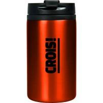 Mug isotherme acier inoxidable rouge « Crois ! »