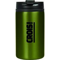 Mug isotherme acier inoxidable vert « Crois ! »