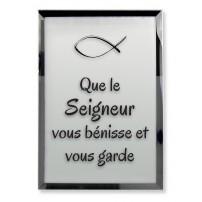 Tableau miroir « Que le Seigneur vous bénisse et vous garde »