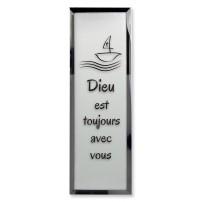 Tableau miroir « Dieu est toujours avec vous »