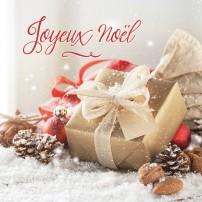 Cadeaux de Noël sur la neige