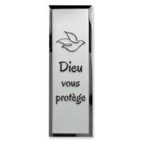 Tableau miroir « Dieu vous protège »