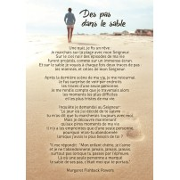 Carte Des pas dans le sable