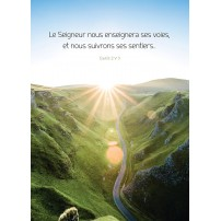 POSTER : Route cheminant dans la montagne