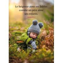 POSTER : Enfant jouant dans la nature en automne