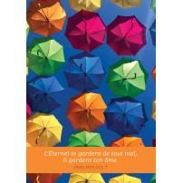 Carte Avec Verset Parapluies ouverts dans le ciel