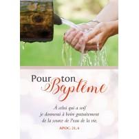 Carte Avec Verset Mains receuillant de l'eau à une fontaine(BAP)