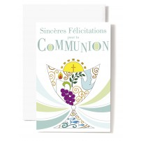 Mignonnette Communion Colombe, bougie, raisin