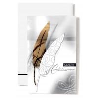 Mini Carte Double Roseaux dans feuille sépia
