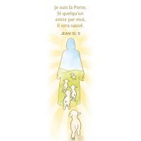 Signet Silhouette de Jésus et brebis