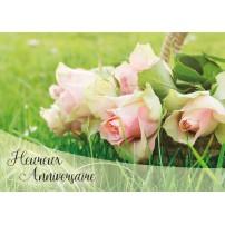 CARNET HA : Panier de roses posé sur l'herbe