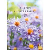 CARNET HA : Bouquet de fleurs violettes