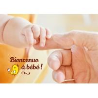 CARNET HE : Main de bébé tenant le doigt de son père