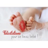 CARNET HE : Pieds de bébé avec marque de bisou