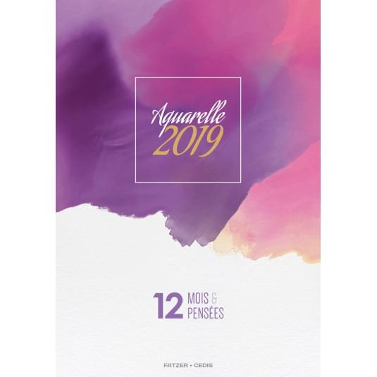 CAL. 2019 Aquarelle/Pastels