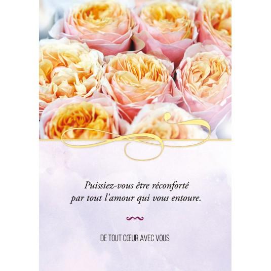 Carte Citation Bouquet de roses