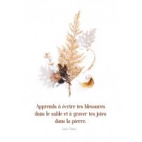 Carte avec des branches et feuilles d'automne