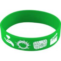 Bracelet silicone META vert