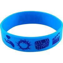Bracelet silicone META bleu