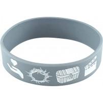 Bracelet silicone META gris