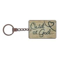 """Porte-clé métal vintage """"Child of God"""" 6 x 4 cm"""