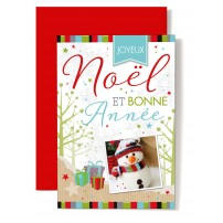 CARNET FA :JNBN Photo bonhomme de neige ,décor dessiné