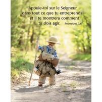 Poster Enfant partant à l'aventure
