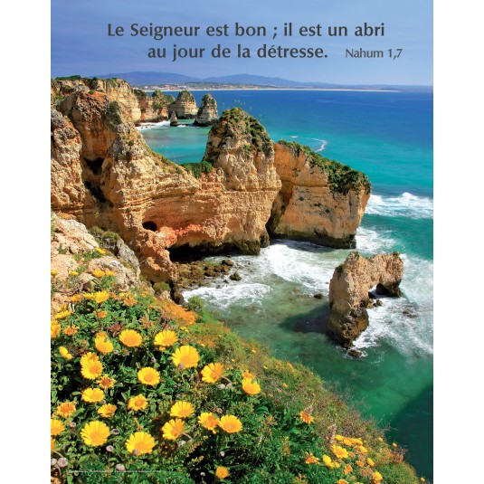 Poster Paysage mer et rochers