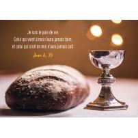 Carte Avec Verset Pain et coupe de communion