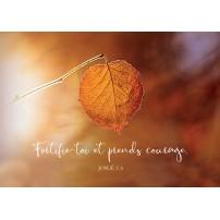 Carte Avec Verset Feuille en automne