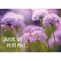 Mini Carte Abeilles sur une fleur violette