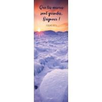 Signet Lever de soleil sur la neige