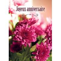 Carte Avec Message Bouquet de fleurs roses
