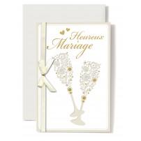 Carte Double Mariage Deux coupes