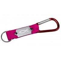 Porte-clés mousqueton rose