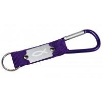 Porte-clés mousqueton violet