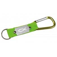 Porte-clés mousqueton vert