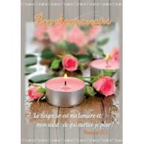 CARTE VB : Bougies et roses sur une table