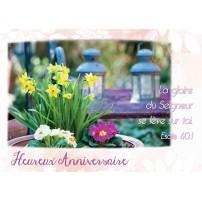 CARTE VB : Bosquet de fleurs dans un jardin