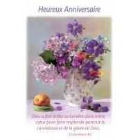 CARTE VB : Bouquet dans un vase posé sur une table
