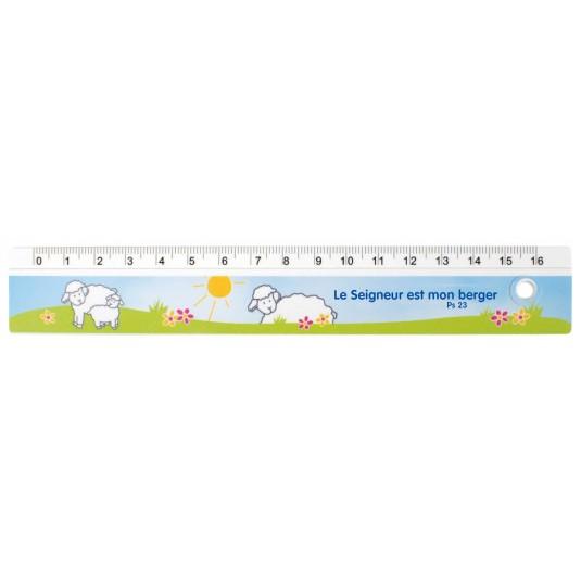 """Règle """"moutons"""" 16cm"""
