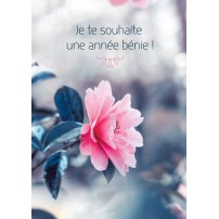 CARTE FA : Fleur rose